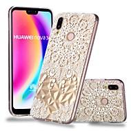 お買い得  携帯電話ケース-ケース 用途 Huawei P20 / P20 lite クリア / パターン バックカバー 曼荼羅 / レース印刷 ソフト TPU のために Huawei P20 / Huawei P20 Pro / Huawei P20 lite