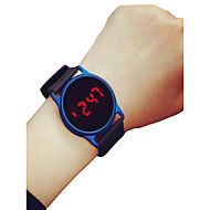 cheap Sport Watches-Men's Women's Sport Watch Wrist Watch Digital 30 m Chronograph LCD Casual Watch Silicone Band Digital Casual Minimalist Black / Blue / Rose - Black / Blue Black / Rose Red Black / Silver Two Years