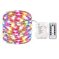 お買い得  -zdm 5m 50 led妖精のライト電池操作の文字列のライト防水8モード妖精の文字列のライトとリモートとタイマーのホタルのライトとクリスマスデコレーションのクリスマスライトマルチカラー