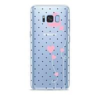 Недорогие Чехлы и кейсы для Galaxy S9 Plus-Кейс для Назначение SSamsung Galaxy S9 Plus / S9 С узором Кейс на заднюю панель С сердцем Мягкий ТПУ для S9 / S9 Plus / S8 Plus