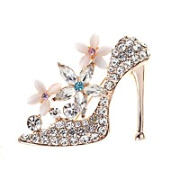 cheap -Women's Opal 3D Brooches - Shoe Simple, Elegant Brooch Gold For Daily
