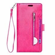 Недорогие Чехлы и кейсы для Galaxy Note-Кейс для Назначение SSamsung Galaxy Note 9 Кошелек / Бумажник для карт / со стендом Чехол Однотонный Твердый Кожа PU для Note 9