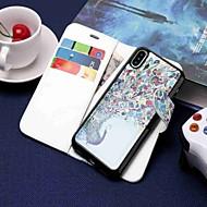 Недорогие Кейсы для iPhone 8 Plus-Кейс для Назначение Apple iPhone XR / iPhone XS Max Кошелек / Бумажник для карт / со стендом Чехол Животное Твердый Кожа PU для iPhone XS / iPhone XR / iPhone XS Max