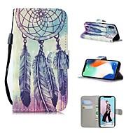 Недорогие Кейсы для iPhone 8-Кейс для Назначение Apple iPhone XS / iPhone XS Max С узором Чехол Ловец снов Твердый Кожа PU для iPhone XS / iPhone XR / iPhone XS Max