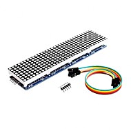 cheap -MAX7219 Dot Matrix Module For Arduino Microcontroller 4 In 1 Display with 5pin Line