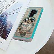 Недорогие Чехлы и кейсы для Galaxy S9 Plus-Кейс для Назначение SSamsung Galaxy S9 Plus / S9 Защита от удара / Стразы / С узором Кейс на заднюю панель Сова Твердый ПК для S9 / S9 Plus / S8 Plus