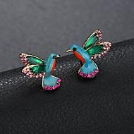 Žene Skulptura Sitne naušnice Umjetno drago kamenje Naušnice Mini Ptica dame Crtići Slatka Style Jewelry Duga Za Dnevno Izlasci 1 par