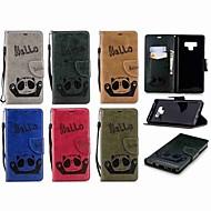 Недорогие Чехлы и кейсы для Galaxy Note 8-Кейс для Назначение SSamsung Galaxy Note 9 / Note 8 Кошелек / Бумажник для карт / Флип Чехол Панда Твердый Кожа PU для Note 9 / Note 8