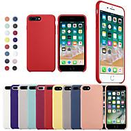 Недорогие Кейсы для iPhone 8 Plus-Кейс для Назначение Apple iPhone X / iPhone 8 Защита от удара Кейс на заднюю панель Однотонный Мягкий Силикон для iPhone XS / iPhone XR / iPhone XS Max