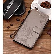 Недорогие Чехлы и кейсы для Galaxy S9 Plus-Кейс для Назначение SSamsung Galaxy S9 Plus / S9 Бумажник для карт / Рельефный / С узором Чехол Цветы Твердый Кожа PU для S9 / S9 Plus / S8 Plus