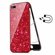 Недорогие Кейсы для iPhone 8 Plus-Кейс для Назначение Apple iPhone 8 Plus / iPhone 7 Plus Покрытие Чехол броня Твердый Закаленное стекло для iPhone 8 Pluss / iPhone 7 Plus