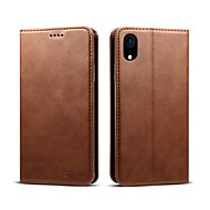 abordables -Funda Para Apple iPhone 8 / iPhone XS / iPhone XR Cartera / Soporte de Coche / Antigolpes Funda de Cuerpo Entero Un Color Dura Cuero de PU para iPhone XS / iPhone XR / iPhone XS Max