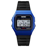 cheap -SKMEI Men's Sport Watch Military Watch Digital 50 m Alarm Calendar / date / day Chronograph PU Band Digital Casual Fashion Black - Blue Golden Black / White One Year Battery Life