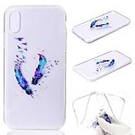 Недорогие Кейсы для iPhone 8 Plus-Кейс для Назначение Apple iPhone XR / iPhone XS Max Прозрачный / С узором Кейс на заднюю панель Перья Мягкий ТПУ для iPhone XS / iPhone XR / iPhone XS Max