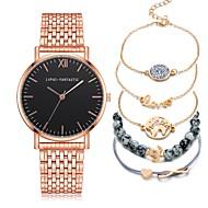 cheap -Men's Wrist Watch Quartz Chronograph Creative New Design Stainless Steel Band Analog Luxury Elegant Black / Silver / Rose Gold - Gold / White Black / Silver Gold / Silver / White One Year Battery Life