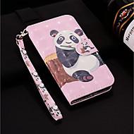 Недорогие Чехлы и кейсы для Galaxy S9 Plus-Кейс для Назначение SSamsung Galaxy S9 Plus / S9 Кошелек / Бумажник для карт / со стендом Чехол Панда Твердый Кожа PU для S9 / S9 Plus / S8 Plus
