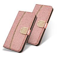 Недорогие Чехлы и кейсы для Galaxy Note-Кейс для Назначение SSamsung Galaxy Note 9 / Note 8 Кошелек / Бумажник для карт / со стендом Чехол Бабочка / Сияние и блеск / Стразы Твердый Кожа PU для Note 9 / Note 8