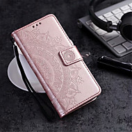 Carcasă Pro Huawei Galaxy S10 / Galaxy S10 E Peněženka / Pouzdro na karty / se stojánkem Celý kryt Květiny Pevné PU kůže pro S9 / S8 Plus / S8
