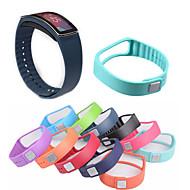 Недорогие Часы для Samsung-Ремешок для часов для Gear Fit Samsung Galaxy Спортивный ремешок Керамика / силиконовый Повязка на запястье