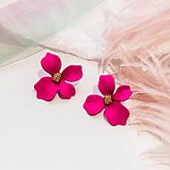 여성용 레트로 스터드 귀걸이 - 꽃장식 숙녀 유럽의 단 패션 보석류 로즈 / 그린 / 핑크 제품 파티 일상 1 쌍