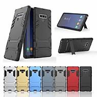 Недорогие Чехлы и кейсы для Galaxy Note 8-Кейс для Назначение SSamsung Galaxy Note 9 / Note 8 Защита от удара / со стендом Кейс на заднюю панель броня Твердый ПК для Note 9 / Note 8 / Note 5