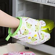 お買い得  キッチン用小物-寒いか暖かいキッチンアクセサリーのランダムな色をキャッチするための1pc実用的な電子レンジミット断熱ノンスリップ保護手袋