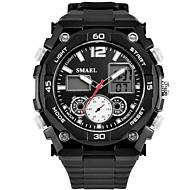 levne -SMAEL Pánské Sportovní hodinky Digitální hodinky japonština Digitální Černá 30 m Voděodolné Kalendář Chronograf Analog - Digitál Módní - Černá Černá / Modrá / Svítící