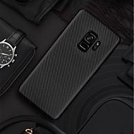 Недорогие Чехлы и кейсы для Galaxy S7 Edge-Кейс для Назначение SSamsung Galaxy S9 Plus / S9 Ультратонкий / Матовое Кейс на заднюю панель Однотонный Мягкий Углеродное волокно для S9 / S9 Plus / S8 Plus