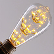 1pc 3 W LED Glühlampen 200 lm E26 / E27 ST64 47 LED-Perlen COB Dekorativ sternenklar Warmes Weiß Rot Blau 85-265 V / RoHs
