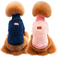 cheap Pet Supplies-Dogs / Cats Sweatshirt Dog Clothes Solid Colored Blue / Pink / Khaki 100% Coral Fleece / Cotton Costume For Pets Unisex Sports & Outdoors / Casual / Daily