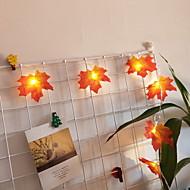 cheap -1.5m String Lights 10 LEDs Warm White Cool 3 V 1pc