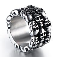 povoljno Nakit i ručni satovi-Muškarci Vintage Style Skulptura Band Ring - Titanium Steel Lubanja Stilski, Vintage, Punk Jewelry Pink Za Ulica Klub 8 / 9 / 10 / 11 / 12