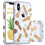 BENTOBEN Case For Apple iPhone X / iPhone XS Shockproof / Pattern Back Cover Fruit Hard PC / Silica Gel for iPhone XS / iPhone X