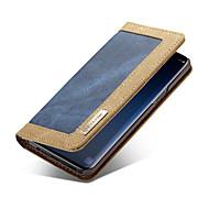 Недорогие Чехлы и кейсы для Galaxy S-Кейс для Назначение SSamsung Galaxy S9 Plus / S9 Кошелек / Бумажник для карт / Флип Чехол Однотонный Твердый текстильный для S9 / S9 Plus / S8 Plus