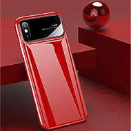 Недорогие Кейсы для iPhone 8 Plus-Кейс для Назначение Apple iPhone X / iPhone 8 Защита от удара / Зеркальная поверхность Кейс на заднюю панель Однотонный Твердый ПК для iPhone X / iPhone 8 Pluss / iPhone 8