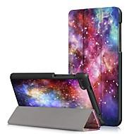 お買い得  携帯電話ケース-ケース 用途 Lenovo Tab 7 Essential / Lenovo Tab 4 7 Essential 耐埃 / フリップ / オートスリープ / ウェイクアップ フルボディーケース カートゥン ハード PUレザー のために Lenovo Tab 7 Essential / Lenovo Tab 4 7 Essential