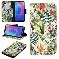 Hülle Für Xiaomi Xiaomi Pocophone F1 / Xiaomi Redmi 6 Pro Geldbeutel / Kreditkartenfächer / mit Halterung Ganzkörper-Gehäuse Pflanzen Hart PU-Leder für Redmi Note 5A / Xiaomi Redmi Note 5 Pro