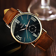 cheap Brand Watches-YAZOLE Men's Wrist Watch Quartz Brown Casual Watch Analog Casual - Black Blue Dark Green One Year Battery Life / Stainless Steel / SSUO 377