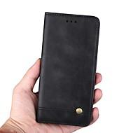 Недорогие Чехлы и кейсы для Galaxy Note 8-Кейс для Назначение SSamsung Galaxy Note 9 / Note 8 Кошелек / Бумажник для карт / со стендом Чехол Однотонный / Плитка Твердый Кожа PU для Note 9 / Note 8