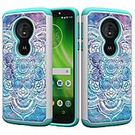 お買い得  携帯電話ケース-ケース 用途 Motorola MOTO G6 / Moto G6 Play 耐衝撃 / ラインストーン / パターン バックカバー 曼荼羅 / ラインストーン ハード PC のために MOTO G6 / Moto G6 Play / Moto E5 Play