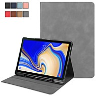 Case For Samsung Galaxy Tab S4 10.5 (2018) Flip / Magnetic / Auto Sleep / Wake Up Full Body Cases Solid Colored Hard PU Leather for Tab S4 10.5 (2018)
