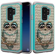 Недорогие Чехлы и кейсы для Galaxy S8 Plus-Кейс для Назначение SSamsung Galaxy S9 Plus / S8 Plus Защита от удара / Стразы / С узором Кейс на заднюю панель Сова / Стразы Твердый ПК для S9 / S9 Plus / S8 Plus