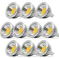 お買い得  LED スポットライト-5W GU5.3(MR16) LEDスポットライト 1 COB 400-450 lm 温白色 / クールホワイト / ナチュラルホワイト 明るさ調整 DC 12 V 10個