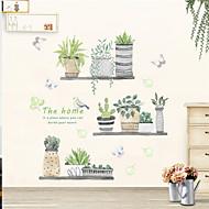 preiswerte -Dekorative Wand Sticker - Flugzeug-Wand Sticker Blumenmuster / Botanisch Drinnen