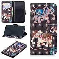 Недорогие Кейсы для iPhone 8 Plus-Кейс для Назначение Apple iPhone XR / iPhone XS Max Кошелек / Бумажник для карт / со стендом Чехол Слон Твердый Кожа PU для iPhone XS / iPhone XR / iPhone XS Max