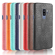 Недорогие Чехлы и кейсы для Galaxy S6 Edge Plus-Кейс для Назначение SSamsung Galaxy S9 Plus / S9 Матовое Кейс на заднюю панель Однотонный Твердый Кожа PU для S9 / S9 Plus / S8 Plus