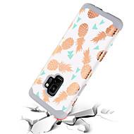 Недорогие Чехлы и кейсы для Galaxy S9-Кейс для Назначение SSamsung Galaxy S9 Защита от удара / С узором Кейс на заднюю панель Фрукты Твердый ПК / силикагель для S9