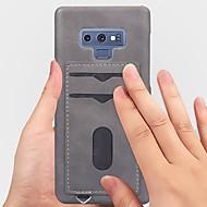 Недорогие Чехлы и кейсы для Galaxy Note 8-Кейс для Назначение SSamsung Galaxy Note 9 / Note 8 Бумажник для карт / Матовое Кейс на заднюю панель Однотонный Мягкий Кожа PU для Note 9 / Note 8