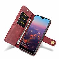 お買い得  携帯電話ケース-ケース 用途 Huawei P20 Pro / P20 lite カードホルダー / 耐衝撃 / フリップ フルボディーケース ソリッド ハード PUレザー のために Huawei P20 / Huawei P20 Pro / Huawei P20 lite