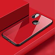 Недорогие Кейсы для iPhone 8 Plus-Кейс для Назначение Apple iPhone XR / iPhone XS Max Защита от удара Кейс на заднюю панель Однотонный Твердый Закаленное стекло для iPhone XS / iPhone XR / iPhone XS Max